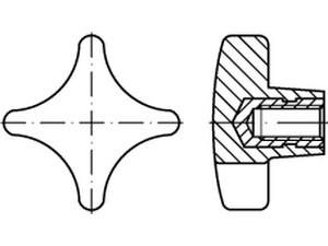 M8*16(10pcs) 10 st/ücke M8 R/ändelschraube Verzinkter Kohlenstoffstahl Flache R/ändelkopfschrauben